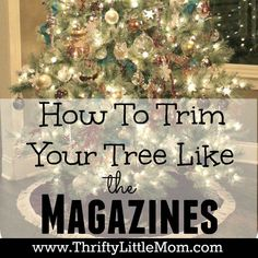 The Thrifty System- I've had so many people tell me how much they love and admire Christmas trees- mine, those in magazines, online, etc., but try as they may theirs never comes out the way they expect it. I have a system that I use and I thought that I would share it with anyone …