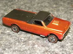 Old Hot Wheels Car | car us vintage redline hotwheel orange fleetside toy car us