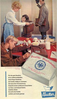 """Die """"gute Butter"""" durfte nie auf dem Frühstücks- oder Abendbrottisch fehlen. In den 70er wurde dann Margarine irgendwie 'chic/modern ...'"""