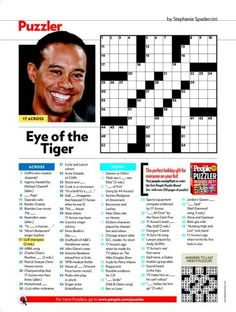People Magazine Crossword Puzzles The Kennedys - Recipes