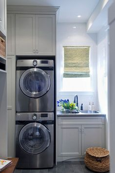 15 Tiny Laundry Spaces With Functional Ideas | Home Design And Interior
