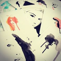What to do with original #artwork #fashion #illustrations? Sell? Exposition? Where?