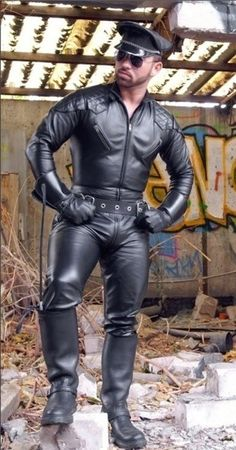 Leather Uniform Men Don't forget to come and see us at http://bakedcomfortfood.com!