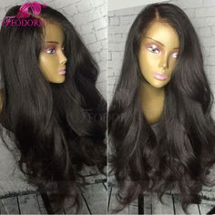 Virgin Human Hair Lace Front Wigs Unprocess Stocked Baby Hair Human Hair Full Lace Wigs Wavy 7A 4x4 Silk Top Lace Front Wigs