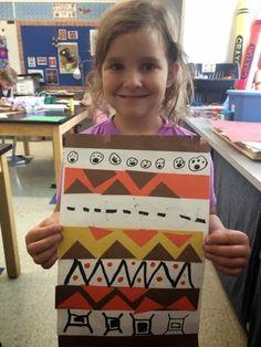 Kindergarten Native American blankets