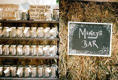 #masonjar, #bar, #haystacks, #rustic