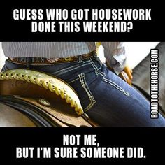 Horses always come before housework - that's the rule!