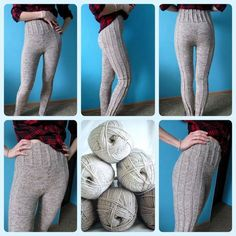Crochet Pants, Crochet Wool, Crochet Winter, Crochet Socks, Lace Knitting, Knitting Stitches, Knitting Socks, Knit World, Knit Leggings