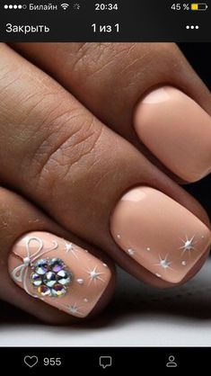 ❤ GREAT color idea for Christmas nail art! Decorado de unas | ongles #nailart