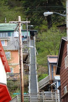 Juneau, Alaska / Like Ketchikan, Juneau is covered with little staircases everywhere- love that! :)