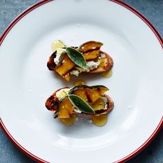 Crostini with Butternut Squash, Goat Cheese and Sage | Williams-Sonoma