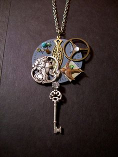 Steampunk Found Objects Pendant $28