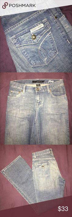 Flare Jeans Brand new! Calvin Klein stonewashed flare jeans. Size 4 Calvin Klein Jeans Flare & Wide Leg