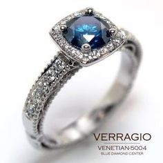 Engagement tint with blue sapphire