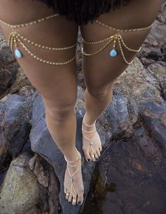 Anklets Multilayer Leg Chain Tassel Water Drop Turquoise Pendant Women Thigh Body Jewelry - Item Type: Body Jewelry Fine or Fashion: Fashion Style: Fashion Body Jewelry Type: Belly Chains Material: Zinc Alloy Metals Type: Zinc Alloy Shapepattern: W Leg Chain, Body Chains, Body Jewelry Chains, Diy Body Chain, Feet Jewelry, Ankle Jewelry, Body Jewellery, Turquoise Pendant, Bare Foot Sandals