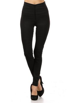 Pinup Clothing - Skinny Black Cigarette Pants with High Waist & Zipper Front, Broad Minded Clothing Detail Pin Up Outfits, Unique Outfits, Stylish Outfits, Cute Outfits, Black Cigarette Pants, Pin Up Style, My Style, Princess Beauty, Luxury Closet