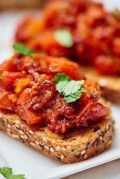 Sun Dried and Roma Tomato Bruschetta