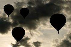 Breathtaking black and white of hotair balloons