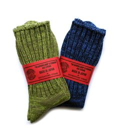 Superior Labor Socks. (J.Crew also has some socks like this. Super-warm and American-made)