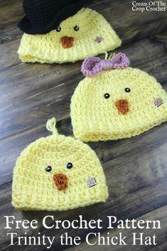 Trinity the Chick Hat Crochet Pattern   Cream Of The Crop Crochet