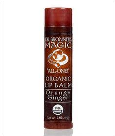 Dr. Bronner's Fair Trade & Organic Orange Ginger Lip Balm