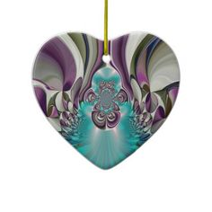 Angelic Hakuna Matata Purple Heart.jpg Christmas Ornament