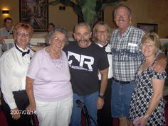 Aaron Tippen with Mom, Mike, Sharon, Sandy, and me
