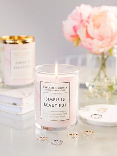 Simple Is Beautiful Candle - Dainty Ring Collection – Charmed Aroma
