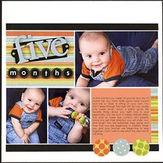 Use a Rectangle Collage Template to Make an Easy Scrapbook Page.
