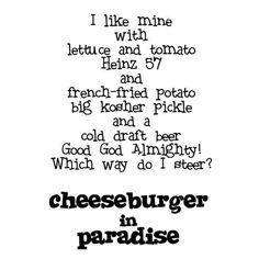 Cheeseburger in Paradise - Jimmy Buffett