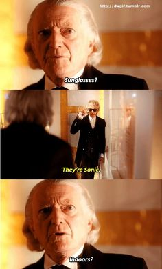 Two doctors - Doctor Who - Christmas - Twice upon a time - First doctor - twelfth doctor - David Bradley - Peter Capaldi Doctor Who Jokes, Doctor Who 12, I Am The Doctor, Second Doctor, 12th Doctor, Twelfth Doctor, Doctor Whi, Doctor Who Christmas, Bbc