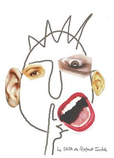 Picasso Faces, line art + collage, good for younger & assisted work, creative collaboration, & the 'pass it around game'