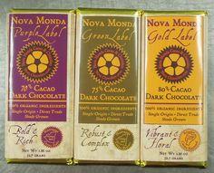 Single origin, direct trade, organic chocolate bars from Nova Monda, Lafayette, Colorado.