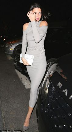 Kendall Jenner in Donna Karan New York top and skirt - Barbie Loves Wildfox party in West Hollywood. (November 2014)