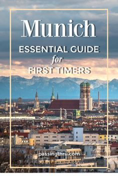 Essential Munich First Timers Guide: book the best daytrips from Munich and focus on city sightseeing. Munich gives visitors a total Bavarian experience! Travel Tips For Europe, Places To Travel, Travel Guide, Travel Destinations, Budget Travel, Visit Germany, Munich Germany, Germany Travel, One Day Trip