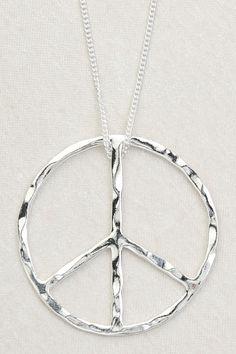 Large Silver Peace Necklace | TreeofLife.com.au