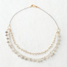 Moonstone Layers Necklace in Gifts Gifts for Her (and You) Necklaces at Terrain