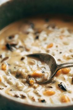 Wild Rice Soup in the Instant Pot! So creamy and simple. Perfect for fall/winter nights! | pinchofyum.com