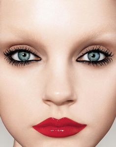 """Tip from Pat McGrath: """"For a shiny lacquered lip that will stay put, first use a stain, then apply lipstick, and seal the deal with a matching or clear gloss."""""""