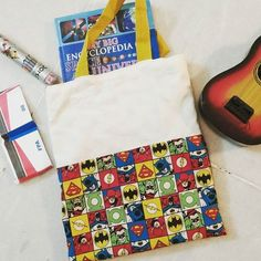 The boy loves carrying his books around wherever we go. Hence, I promised him a book bag. This is what it looks like. :) #bookbag #sewing #sewingwithkids #superheroes #booksofinstagram #handmadeinindia #handmade #makersgonnamake #weekendwithkids #totebag #happiness #sewingforkids