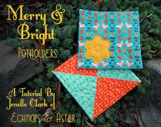 Merry & Bright Potholders tutorial by Jenelle@E, via Flickr