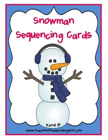 Teach it With Class: Snowman Sequencing FREEBIE