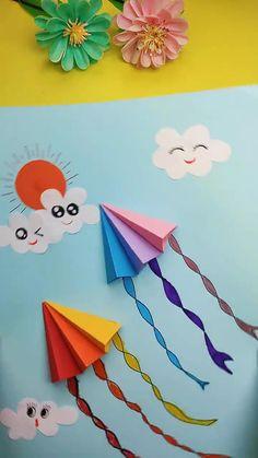 Hand Crafts For Kids, Toddler Arts And Crafts, Easy Arts And Crafts, Spring Crafts For Kids, Craft Projects For Kids, Crafts For Teens, Art For Kids, Fish Crafts Preschool, Preschool Art Activities