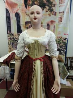 Antique Reproduction Doll Mannequin Lady Grace French Fashion Bru 5' Feet Tall