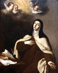 Sta. Teresa de Jesús, de José de Ribera,  año 1630