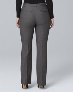 Women's Curvy-Fit Luxe Suiting Bootcut Pants by White House Black Market Casual Work Outfits, Business Casual Outfits, Business Attire, Girly Outfits, Business Ideas, Formal Pants Women, Suits For Women, Work Fashion, Fashion Pants