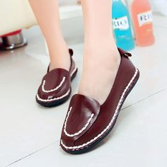 13.38$  Watch now - http://aliqr4.shopchina.info/go.php?t=32423065459 - New hot slip-on round toe Spring Autumn women flats sweet doug shoes soft fashion solid leather brand casual female flats shoes  #bestbuy