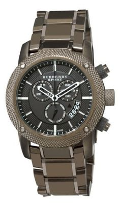 Burberry Men's BU7716 Chrono Sport Brown Chronograph Dial Watch Burberry. $529.20. Quartz movement. Stainless Steel Case. Brown stainless steel bracelet. Deployant clasp with safety. Water-resistant to 330 feet (100 M)