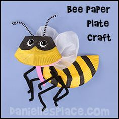 Bee Paper Plate Craft For Kids From Daniellesplace