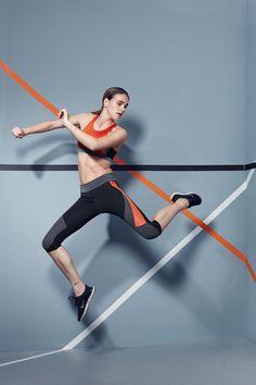 Charli Cohen Laser capri and Nitro sportsbra #Fashercise #StylishlyFit